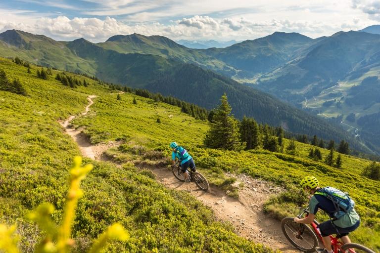 Singletrail in Saalbach - Hacklberg Trail © WOM Medien