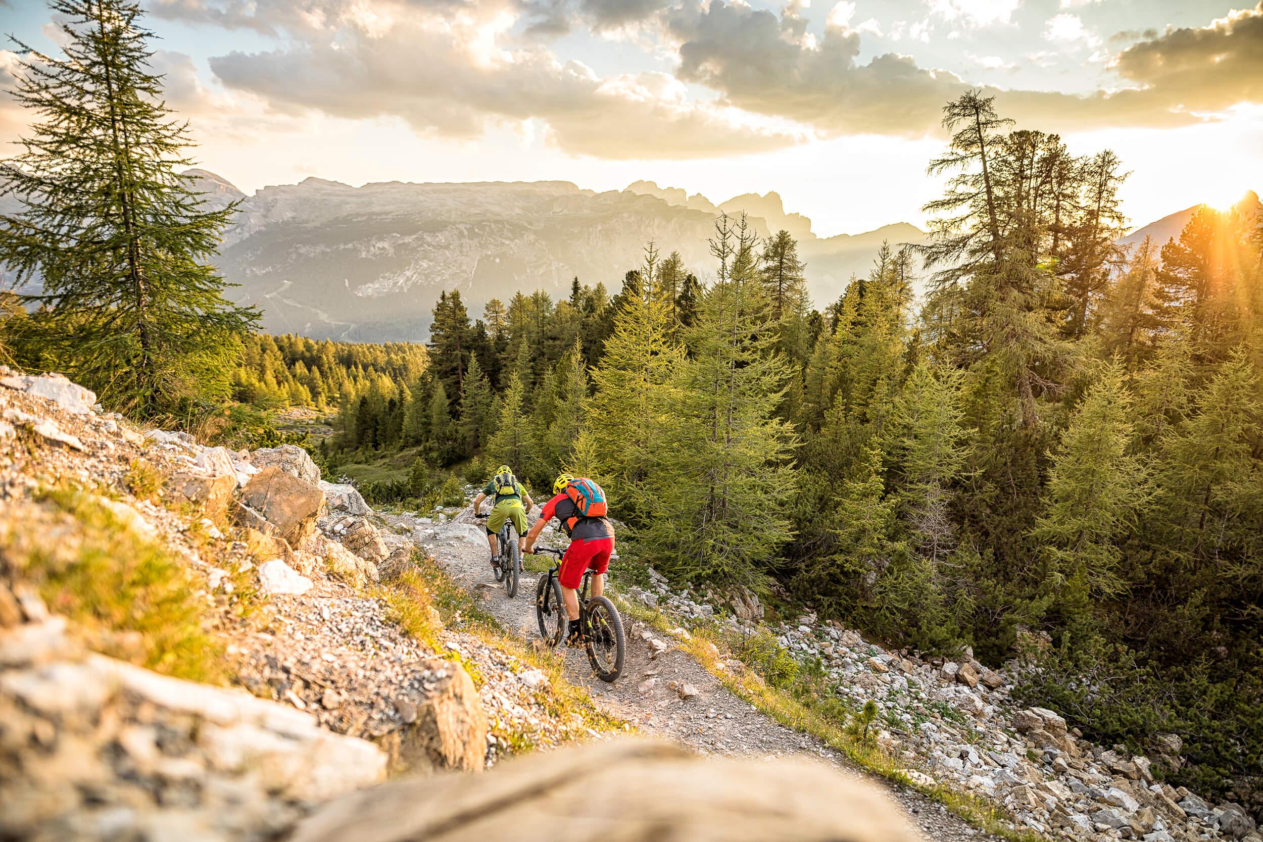 Singletrail am Trail No 15 in Alta Badia © WOM Medien