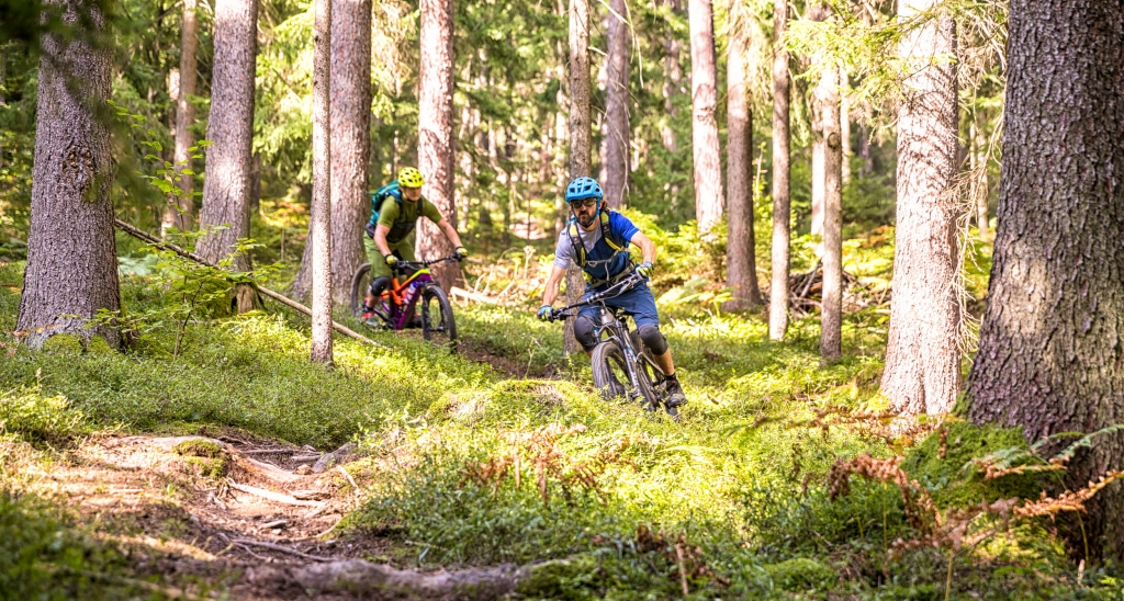 Mountainbiker im Trailpark Jamnica in Slowenien © WOM Medien