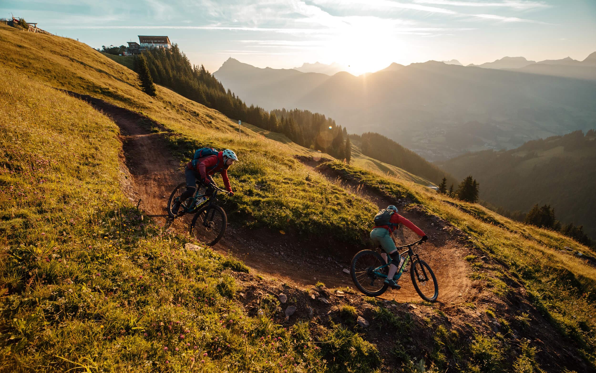 Suntrail in den Kitzbüheler Alpen