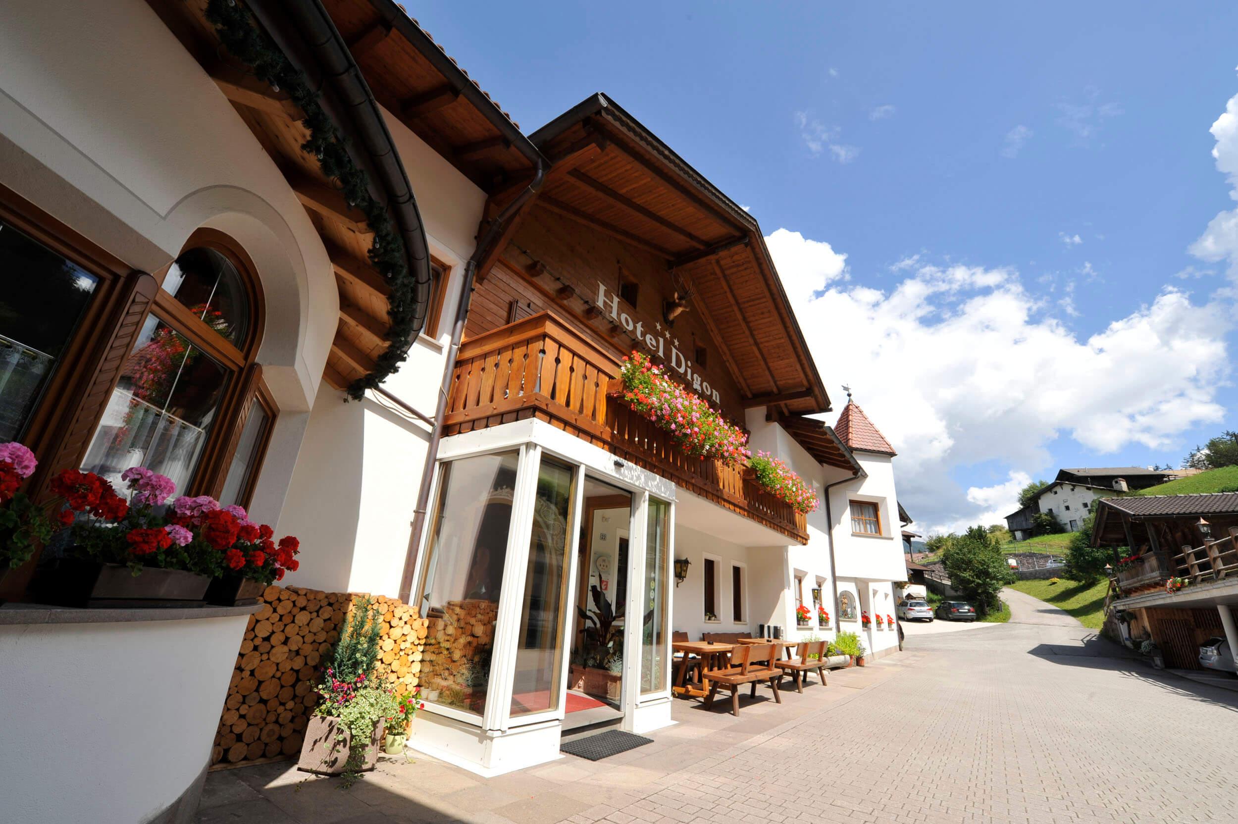 Hotel Digon in den Südtiroler Dolomiten